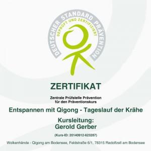ZPP - Zertifikat Krähe 2015-18 Quadrat
